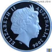1 Dollar - Elizabeth II (Television - Silver Proof Issue) -  obverse