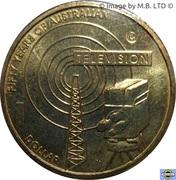 1 Dollar - Elizabeth II (4th Portrait - Television 50 Yrs) -  reverse
