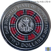 2 Dollars - Elizabeth II (4th Portrait - Lest We Forget - 100 Yrs Repatriation) -  reverse