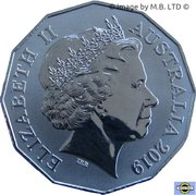 50 Cents - Elizabeth II (4th Portrait - International Year of Indigenous Languages) -  obverse
