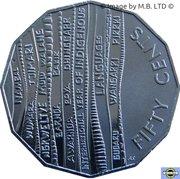 50 Cents - Elizabeth II (4th Portrait - International Year of Indigenous Languages) -  reverse
