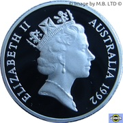 1 Dollar - Elizabeth II (3rd Portrait - Barcelona Olympics - Silver Proof) -  obverse