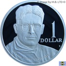 1 Dollar - Elizabeth II (4th Portrait - Howard Florey - Silver Proof) – reverse