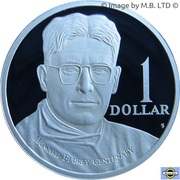 1 Dollar - Elizabeth II (4th Portrait - Howard Florey - Silver Proof) – reverse