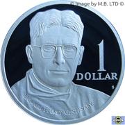 1 Dollar - Elizabeth II (4th Portrait - Howard Florey - Silver Proof) -  reverse