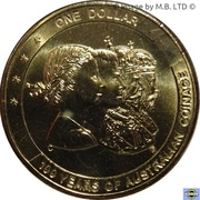 1 Dollar - Elizabeth II (4th Portrait - Australian Coinage) -  obverse