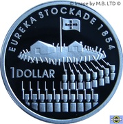 1 Dollar - Elizabeth II (4th Portrait - Eureka Stockade - Silver Proof) – reverse