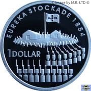 1 Dollar - Elizabeth II (4th Portrait - Eureka Stockade - Silver Proof) -  reverse
