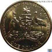 1 Dollar - Elizabeth II (4th Portrait - Coat of Arms) -  reverse