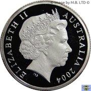 1 Dollar - Elizabeth II (4th Portrait - Masterpieces in Silver - Dollar Decade) -  obverse