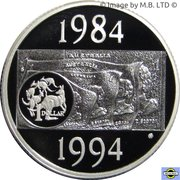 1 Dollar - Elizabeth II (Dollar Decade) -  reverse
