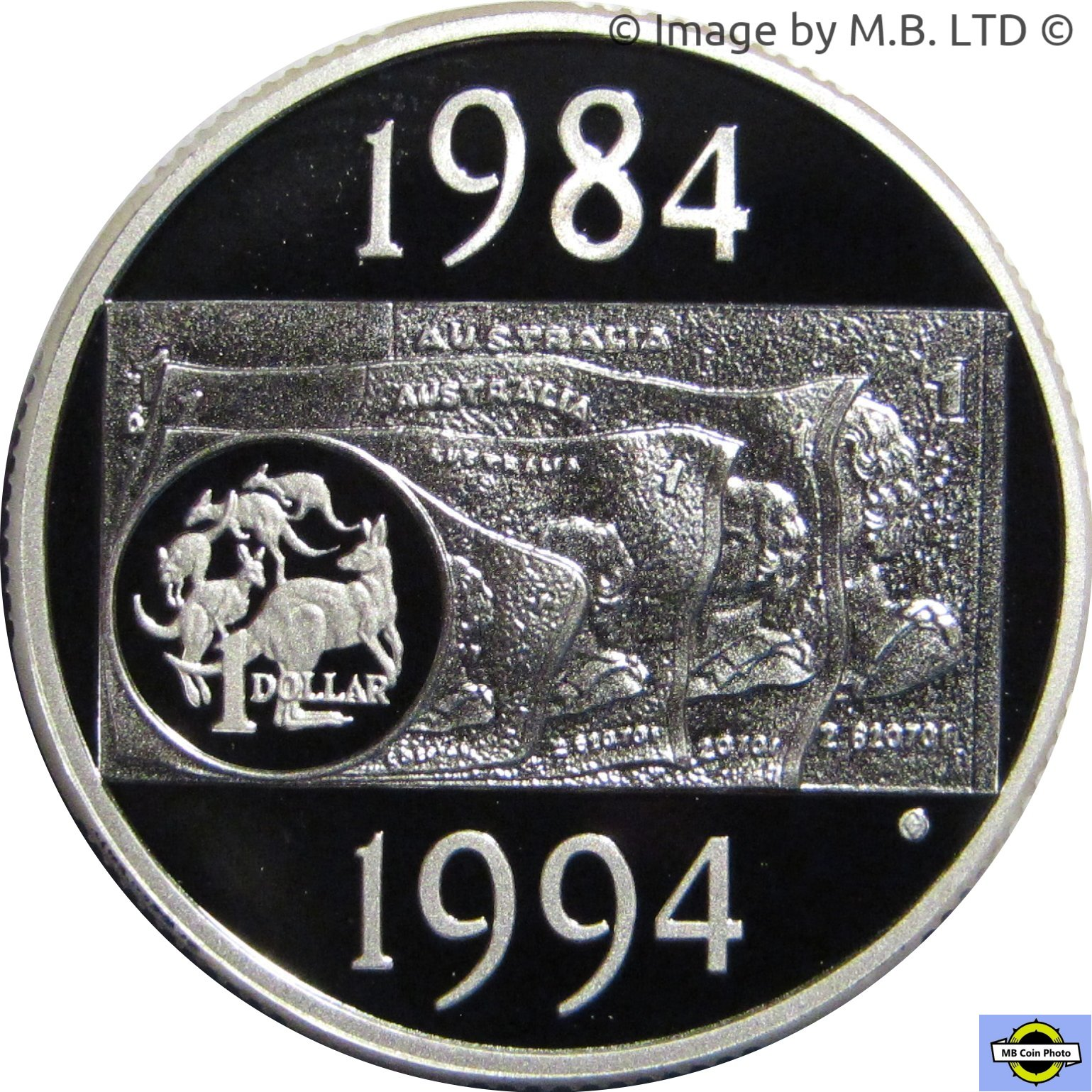2004 SILVER $1 Proof Wombat Australia Coin out of Masterpieces Set