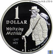 1 Dollar - Elizabeth II (4th Portrait - Masterpieces in Silver - Waltzing Matilda) – reverse