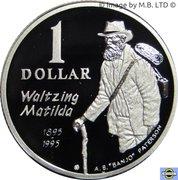 1 Dollar - Elizabeth II (4th Portrait - Masterpieces in Silver - Waltzing Matilda) -  reverse