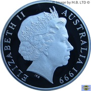 2 Dollars - Elizabeth II (4th Portrait - Masterpieces in Silver - 1920 Sovereign) -  obverse