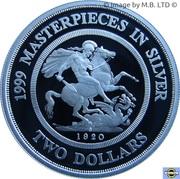 2 Dollars - Elizabeth II (Masterpieces in Silver - 1920 Soveriegn) -  reverse