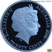 20 Cents - Elizabeth II (4th Portrait - Masterpieces in Silver - 20th Century Monarchs) – obverse