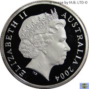 1 Dollar - Elizabeth II (4th Portrait - Mob of Roos - Silver Proof) -  obverse