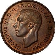 1 Penny - George VI -  obverse