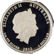 1 Dollar - Elizabeth II (Lunar Dragon silver proof high relief) -  obverse