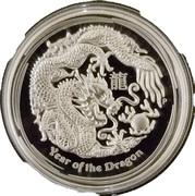 1 Dollar - Elizabeth II (Lunar Dragon silver proof high relief) – reverse