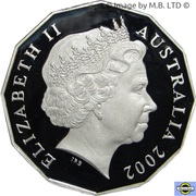 50 Cents - Elizabeth II (4th Portrait - Golden Jubilee - Silver Proof) – obverse