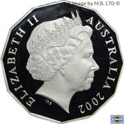 50 Cents - Elizabeth II (4th Portrait - Golden Jubilee - Silver Proof) – obverse