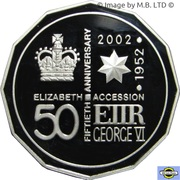 50 Cents - Elizabeth II (4th Portrait - Golden Jubilee - Silver Proof) – reverse