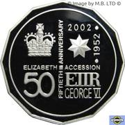 50 Cents - Elizabeth II (4th Portrait - Golden Jubilee - Silver Proof) – reverse
