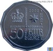 50 Cents - Elizabeth II (4th Portrait - Golden Jubilee) – reverse