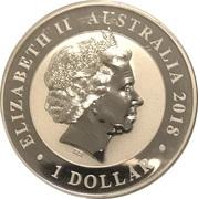 1 Dollar - Elizabeth II (4th Portrait - Australian Swan) -  obverse
