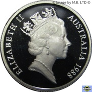 1 Dollar - Elizabeth II (3rd Portrait - Masterpieces in Silver - First Fleet Bicentenary) -  obverse