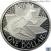 1 Dollar - Elizabeth II (3rd Portrait - Masterpieces in Silver - First Fleet Bicentenary) -  reverse