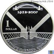 1 Dollar - Elizabeth II (4th Portrait - Sydney Harbour Bridge, Silver Proof) -  reverse