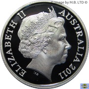 1 Dollar - Elizabeth II (4th Portrait - RAM's Head - Silver Proof) – obverse