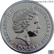 1 Dollar - Elizabeth II (4th Portrait - ICC Cricket world Cup) -  obverse