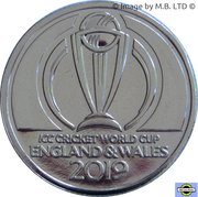 1 Dollar - Elizabeth II (4th Portrait - ICC Cricket world Cup) -  reverse