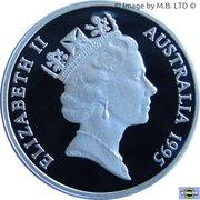 1 Dollar - Elizabeth II (3rd Portrait - Banjo Paterson - Silver Proof) -  obverse