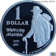 1 Dollar - Elizabeth II (3rd Portrait - Banjo Paterson - Silver Proof) -  reverse