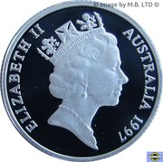 1 Dollar - Elizabeth II (3rd Portrait - Sir Charles Kingsford Smith - Silver Proof) – obverse