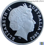 1 Dollar - Elizabeth II (4th Portrait - Year of the Outback - Silver Proof) -  obverse