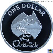 1 Dollar - Elizabeth II (4th Portrait - Year of the Outback - Silver Proof) -  reverse
