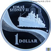 1 Dollar - Elizabeth II (4th Portrait - HMAS Sydney II - Silver Proof) -  reverse