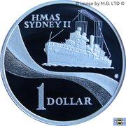 1 Dollar - Elizabeth II (HMAS Sydney II- Silver Proof Issue) – reverse