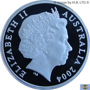 1 Dollar - Elizabeth II (4th Portrait - Masterpieces in Silver - Wombat Dollar) -  obverse
