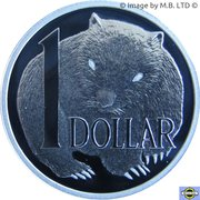 1 Dollar - Elizabeth II (4th Portrait - Masterpieces in Silver - Wombat Dollar) -  reverse