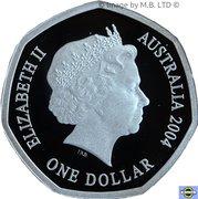 1 Dollar - Elizabeth II (4th Portrait - Masterpieces in Silver - Imperial Test Dollar) -  obverse