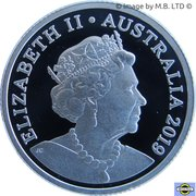 1 Dollar - Elizabeth II (6th Effigy - Australian Coinage Portrait 1998-2019 - Silver Proof) -  obverse