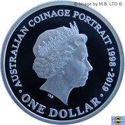 1 Dollar - Elizabeth II (6th Portrait - Australian Coinage Portrait 1998-2019 - Silver Proof) -  reverse