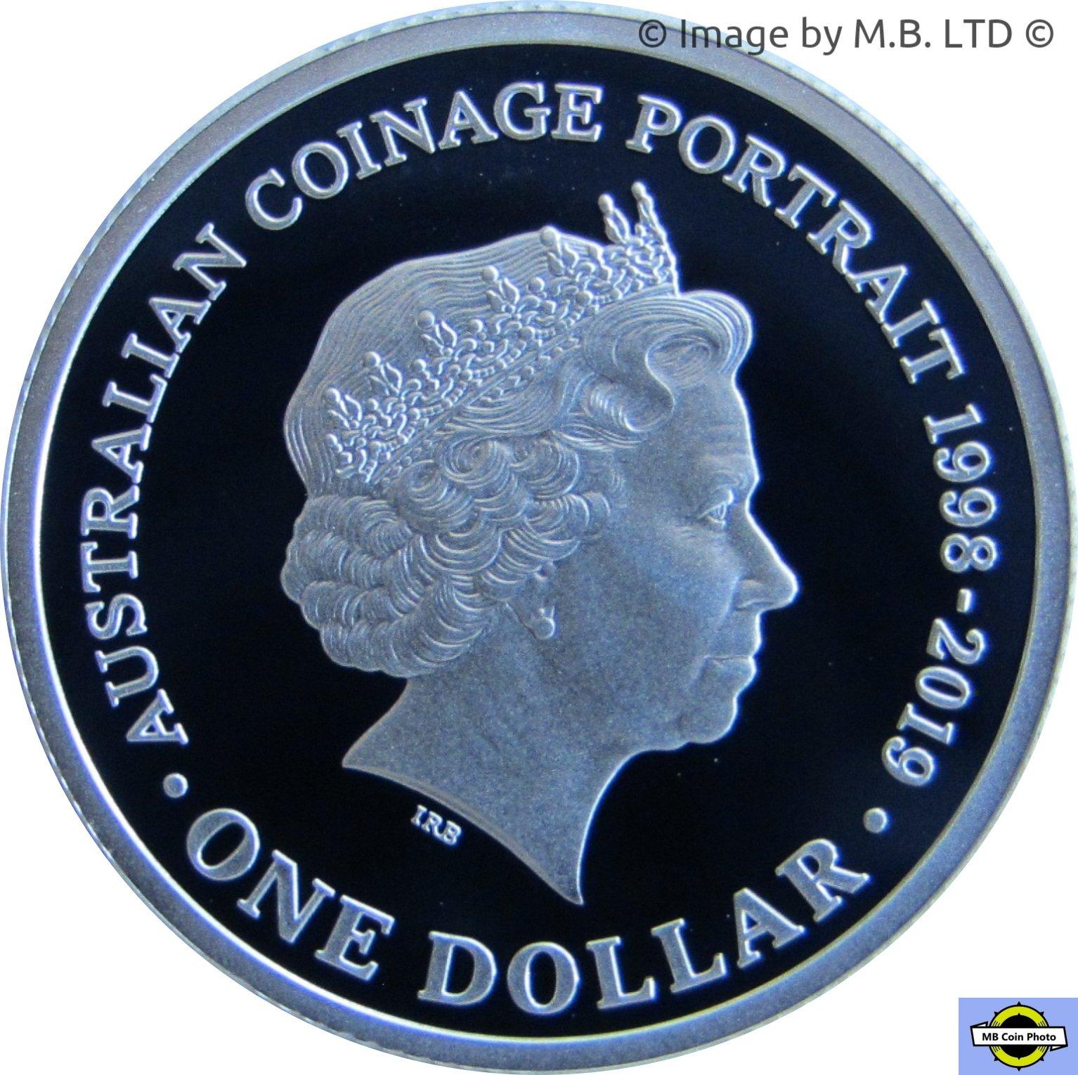 PNC Australia 2018 Queen QEII New 6th Effigy RAM $1 2019 Commemorative Coin